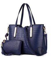 Wholesale Retail New Brand Fashion Handbags - Wholesale and retail hot sell new brand crocodile grain two-piece fashion womens totes shoulder bags handbags lqh2018
