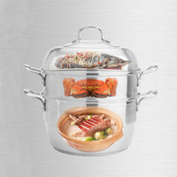 Wholesale Soup Pot Stainless Steel Steamer - 39*39cm High Quality 304 tainless steel Steamer, durable Safety health, multifunctional soup pot, Double Boilers, free shipping