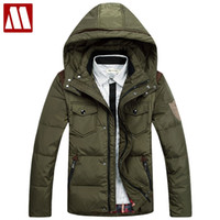 Multi-pocket Feather Parkas Coat For Men 2017 Зимняя куртка с капюшоном с капюшоном с капюшоном с капюшоном