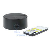 batterie de contrôle à distance achat en gros de-3D LED Base de Lampe 10 LED Dimmable Clignotant 7 RGB Lumières IR Télécommande 5ème Batterie Bin USB Alimenté Expédition DHL Rapide