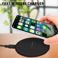Para iphone X Fast Charge Wireless Charger Qi Carregador Pad para iphone 10 8 mais Samsung Galaxy NOTA 8 / S7 / S8 / NOTA 5