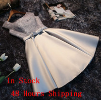 Wholesale Knee Length Sequin Bridesmaid Dresses - Bridesmaid Dresses In Stock 48 Hours Fast Shipping Short Bridesmaids Gowns Cheap Formal Dress In discount