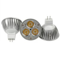Wholesale LED Bulbs Promotion Retail High Power CREE W x1W Dimmable GU10 MR16 E27 LED Light Lamp Spotlight LED Bulb AC V DC12V
