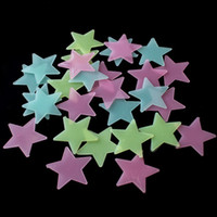 Wholesale Graphic Stars - 100 pcs   PVC patch in September Luminoso Shining Star Neon Fluorescent Wall Stickers Stickers Cartoon Creative Kids Sitckers