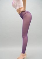 Wholesale Erotic Pants - New Sexy Women Mesh Transparent Leggings See Through Pencil Pants Erotic Lingerie Club Wear Candy Colors FX1010