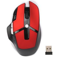 professionelle maustasten großhandel-HXSJ Professionelle Gaming Mouse 8 Tasten 4 Level Einstellbare DPI USB Optical 2,4 GHz Wireless Office Maus Mäuse für Computer Laptop PC Geschenk