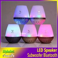 Wholesale Ds Flash Cards - DS-7601 LED Flash Lighting Speaker Wireless Bluetooth Speakers With MIC Hand-free For Smartphone Music Player Support TF Card USB