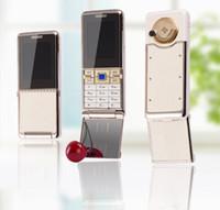 sıcak video mms toptan satış-Sıcak satış Yeni Unlocked Moda lüks cep telefonu için kadın kız Çift sim kart deri metal çerçeve paslanmaz çelik cep telefonu cep telefonu