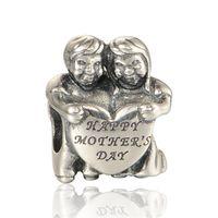 ana mücevherat toptan satış-Mutlu anneler günü takılar boncuk S925 gümüş takı pandora stil bilezik ve kolye ücretsiz kargo LW595 için uyar