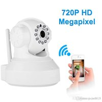 Wholesale Megapixel Ip Camera Sd Card - 720P HD Megapixel P2P Wireless IP Camera Pan Tilt with two way audio TF Micro SD Card Slot Free APP ip camera wi-fi p2p camera
