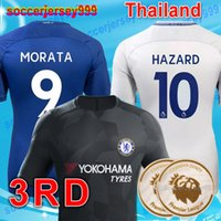 Wholesale Large Size Jerseys - Thailand 2017 2018 MORATA Chelsea soccer jerseys home away 3rd third Hazard BAKAYOKO RUDIGER 17 18 football shirts KANTE uniforms large size