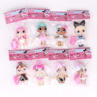 Wholesale Dress For Pvc Figures - 8 pcs   lot Boneca LOL surprise doll figure 8-9 cm LOL doll dress Toys for girls Gifts