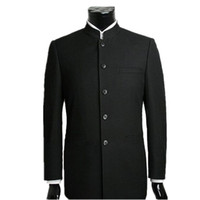 китайские костюмы для мужчин оптовых-Wholesale- Men Suit Sets Chinese Tunic Suits Stand Collar Classic Suit fashion cultivate one's morality Business Formal Male fashion Suit