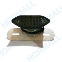 Wholesale Chrome License - CHROME body smoke len LED Motorcycle light License Plate holder Mount 3 in1 Brake Tail Light