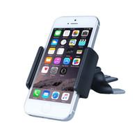 Wholesale car vent phone clip for sale – best Mini Clip Air Vent Mount Car Phone Holder Cradle for iphone plus s