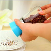 Wholesale Spice Tools - 5pcs Glass Spice&Pepper shaker Portable Salt Bottles Container for Kitchen Cooking Barbecue Tools