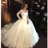 Wholesale Lace Long Sexy Dress Buy - Long Sleeved Ball Gown Wedding Dresses 2017 Vintage Sheer Handmade Bridal Gowns Buy Direct From China