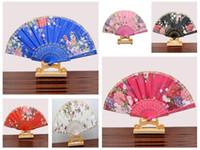 Wholesale Plant Processes - Free shipping New lace lace plastic dance fan elegant folding fan process ZS002 mix order as your needs