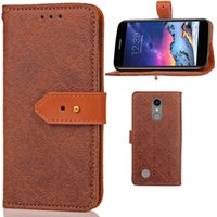 Wholesale Brown Belt Snap - Cases for LG K10 2017 with Wallet Card Pocket Belt Hole Snap Clip Euro Style PU Leather Cover Hand Strap