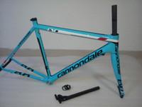 Wholesale Super Light Bike Frame - Supersix EVO Hi Mod Blue White EVO Bicyle Carbon Frame Wholesale Super Light Carbon Road Bicycle Frame