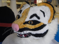 Wholesale Deluxe Tiger Costume - High-quality Real Pictures Deluxe Leopard tiger Mascot Costume Mascot Cartoon Character Costume Adult Size free shipping