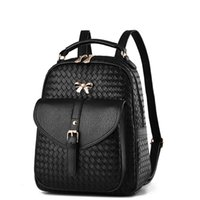 Wholesale Two Way Bags - Women's PU leather bags backbag hot selling woven packet Restoring ancient ways Women Backpacks lady Mochila ZDD10261