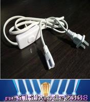 control remoto de lámpara fluorescente al por mayor-NUEVOS enchufes de tubo LED Cable de alimentación T5 T8 Cable de tres enchufes EE. UU. Estándar 1.8M ENVÍO GRATIS