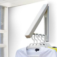 Wholesale Magic Hanger Stainless - Stainless Steel Wall Hanger Retractable Indoor Clothes Hanger Magic Foldable Drying Rack Waterproof Clothes Towel Rack