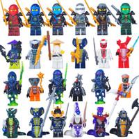 Wholesale Wholesale Ninja Weapons - 2017 HOT Compatible LegoINGlys NinjagoINGlys Sets NINJA Heroes Kai Jay Cole Zane Nya Lloyd With Weapons Action Toy Figure Blocks