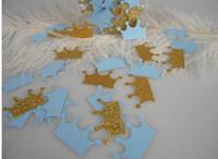 Wholesale Cheap Table Confetti - cheap custom 150pcs glitter Prince Crowns Confetti wedding table scatters Christmas bridal shower bachelorette party decorations Event