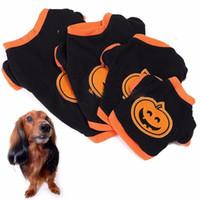xs köpek halloween kılık toptan satış-Cadılar bayramı Kabak Evcil Köpek Yavrusu Giyim T-shirt Giyim Elbise Hoodie Kostüm Pet Malzemeleri Boyutu XS-L 160918