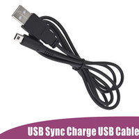 Wholesale 3ds Xl Charger - USB Power Charger Cable Cord Lead For Nintendo 3DS DSi DSi XL 2 in 1 USB Sync 1.2M DHL Fedex Free fast shipment