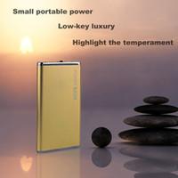 li polymer akku power bank großhandel-DOSHIN Neue Energien-Bank 5600mAh Portable Metallkasten Li-Polymer Externes Ladegerät Powerbank Alle Telefon