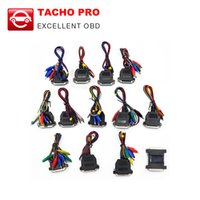 Wholesale Tacho Pro Full - DHL free Universal Unlock Dash Programmer Tacho pro 2008 full set cables Tacho full set cables
