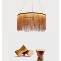 ingrosso lampadari moderni semplici-Modern high-end villa arte personalità lampade atmosfera semplice catena lampadario Nordic camera da letto soggiorno luci del ristorante