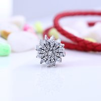 Autênticos 925 Prata Beads Ice Crystal Charms Faces European Style Jewelry Bracelets