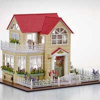 New DIY 3D Wooden Dollhouse Princess Room Handmade Decorações Aniversário Gift Children Toy With Furnitures for Birthday Gift