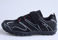 Wholesale Brand Mountain Shoes - 2015 New Brand SPD Cycling Shoes Black MTB Shoes Mountain Bike Shoes Men Racing Bike Shoes Zapatillas Ciclismo Free Shipping