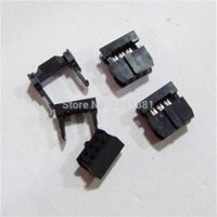 50pcs / lot IDC sockets FC3-6P 2,54 mm Conector de paso IDC 6 pines 2x3 IDC cable de sockets 6P