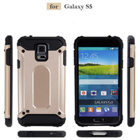 Wholesale heavy duty case for s5 - Slim Armor Hybrid Tough Case Heavy Duty Defender Cover Shockproof Protector for Samsung Galaxy note S5 S3 S4 G530 A9 pro