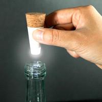 ingrosso luce di bottiglia ricaricabile del usb-Originalità Luce a forma di sughero USB ricaricabile Bottiglia Bottiglia luminosa LED LAMP Cork Plug Bottiglia di vino USB LED Night Light