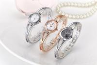 moda senhora relógios porcelana venda por atacado-China Mulheres Quartz Assista Sliver Ladies Aço Moda Negócios Relógios De Pulso Argent Feminino Rosa de Ouro Relógios De Pulso