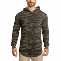 Wholesale sports hoodies for men - Autumn New Style Sport Men Long Lines Hoodies Sport Hoodies Cotton Male Tracksuit Pullover Good For Exercise Bodybuillding Sportwear