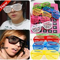 Wholesale Shutter Sunglasses Clubbing - Fashion Full Shutter Glasses Sunglasses for Club Party Decoration Nightclubs Sandy Beach Summer Glasses for Men and Wonmen