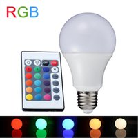 ingrosso prezzo del tubo principale del smd di t8-Lampada LED RGB E27 3W 5W 7W Lampada LED RGB Lampadina 90-260V SMD5050 16 colori Telecomando IR variabile regolabile A65-80