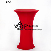 Wholesale Spandex Covers For Cocktail Tables - Hot Sale Round Base Spandex Cocktail Table Cover \ Table Cloth For Wedding Decoration
