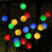 30 LED Solar Lichterketten Laternen Ball, Outdoor Garten Lichter Weihnachten Dekorative Lichter für Pfad Party