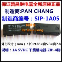 Wholesale Reed Relay - Free shipping lot (10pieces lot) 100%Original New PAN CHANG SIP-1A05 5VDC SIP-1A12 12VDC SIP-1A24 24VDC 1A ZIP-4 Dry reed relay