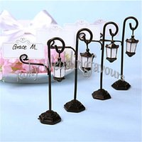 Wholesale Idea Pattern - DHL FREE SHIPPING 200PCS Metal Streetlight Pattern Wedding Place Name Card Holder Party Gift Accessories Table Setting Ideas