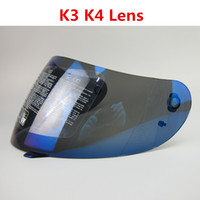 Wholesale Motorcycle Helmet Full Face Visor - VCOROS Helmet shield for agv k3 k4 Full Face Motorcycle Helmet Racing visor (Not For K3-SV) Colors Black, clear, Silver, Rainbow, Blue